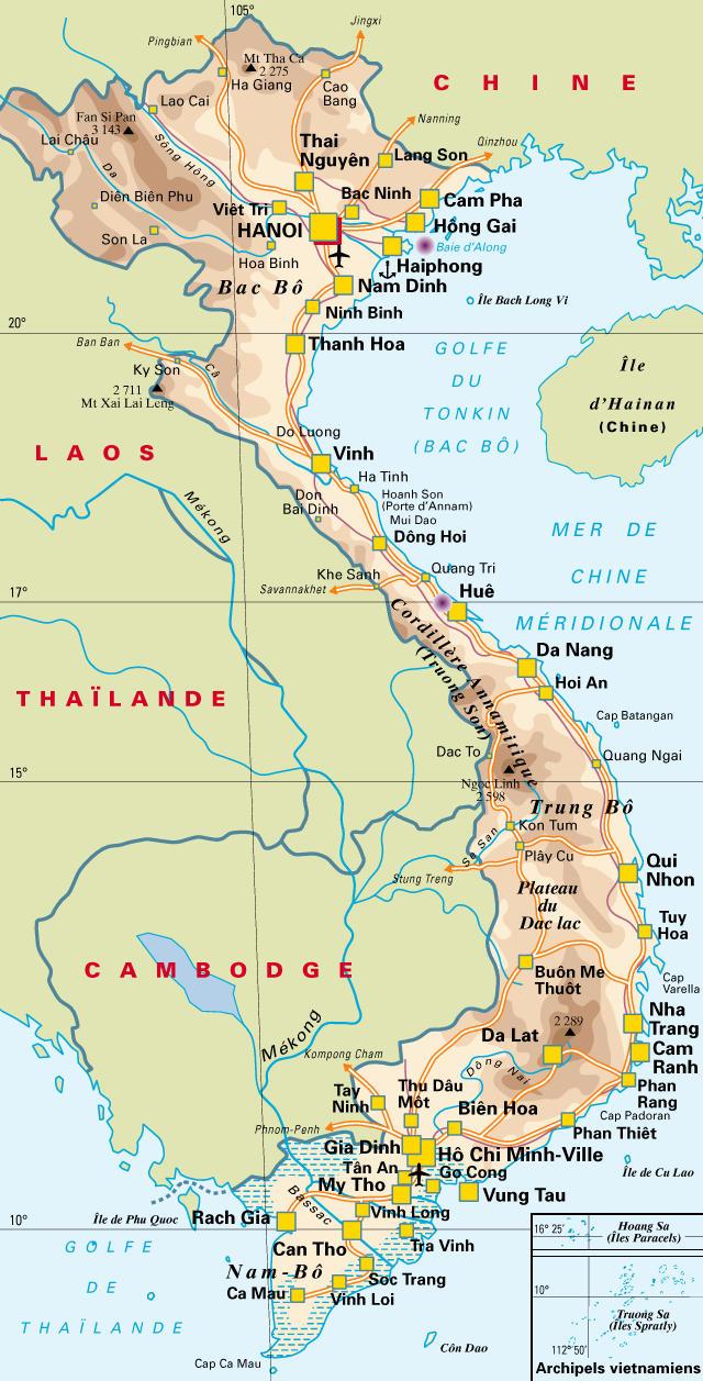 Carte du Viet-Nam